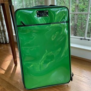 Authentic Kate Space de Gaulle green roller bag